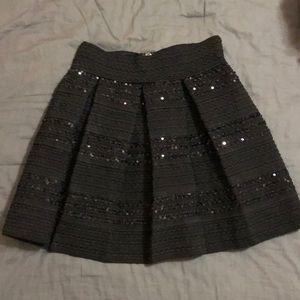 EUC. Black sequin mini skirt